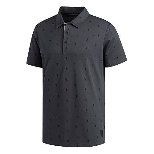 adidas Golf Adicross LW Pique Novelty Polo, Carbon/Black, Large