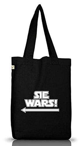 Shirtstreet24 Lustiger Jutebeutel Stoffbeutel Earth Positive Sie Wars, Größe:...
