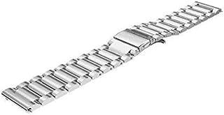 سوار ساعة ذكي من الفولاذ المقاوم للصدأ لهاتف سامسونج جالاكسي جير S3 ثلاثة خرزات من الفولاذ