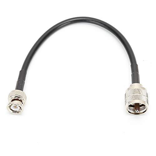 Weikeya Detección Cable, Durable Engatusar Cable 0-6 GHz Hecho de Aluminio Aleación UHF Masculino Pl259 Derecho Enchufe