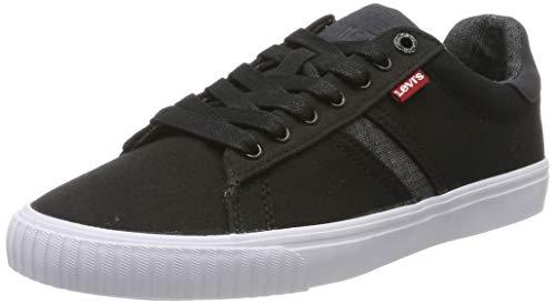 Levi\'s Levis Footwear and Accessories Herren Skinner Sneaker, Schwarz (Noir Regular Black), 44 EU