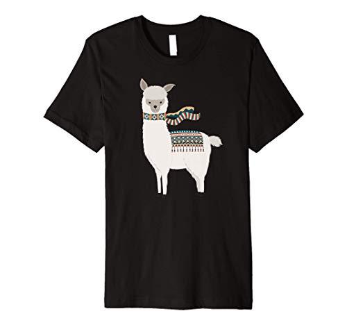 Cute Cartoon Animal Art   Llama & Alpaca Lover Gift S000037