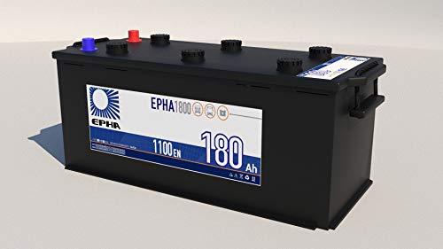 Bateria arranque camión y autobús EPHA1800 12v 180Ah 1100A +IZQ
