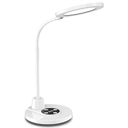 Lámpara De Escritorio, Lámpara De Mesa Para Cuidar Los Ojos, Control Táctil, Lámparas Flexible Gooseneck, 3 Modos De Luz, 5 Niveles De Brillo, Modo De Lectura Con Un Clic, Temporizador