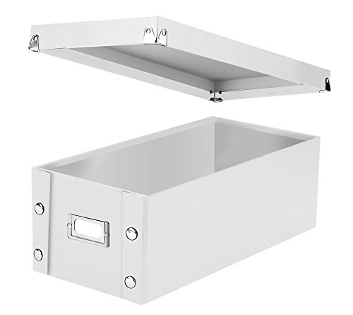 Snap-N-Store DVD Storage Box, 6' x 8.25' x 16.5', Holds up to 26 DVDs in Cases, White (SNS03317)