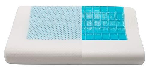 ZOLLNER Nackenstützkissen kühlend 30x50 cm, Bezug waschbar, Formschaum & Kühlgel