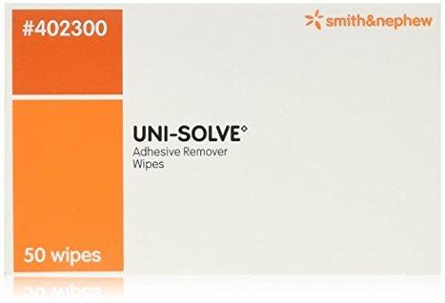 Smith & Nephew Uni-Solve Adhesive Remover - Wipes Box of 50