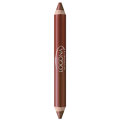LOGONA Naturkosmetik Double Lip Pencil No. 02 Chestnut, Natural Make-up, Lippenstift, abgestimmte Farbnuancen, mit Anti-Aging Wirkstoffkomplex, Bio-Extrakte, 4.67 g