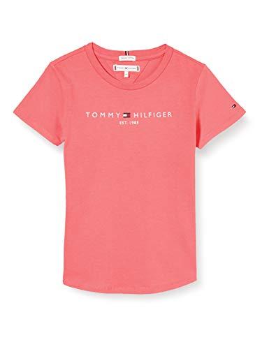 Tommy Hilfiger Mädchen Essential Tee S/s Hemd, Pink, 92