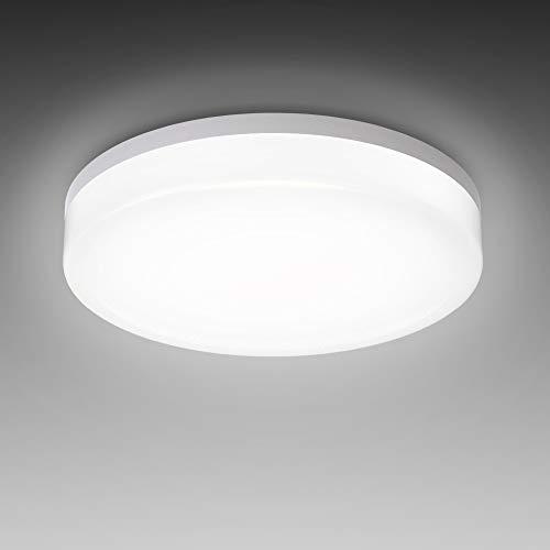 B.K.Licht I LED Deckenleuchte I spritzwassergeschützt IP54 I 13W LED Platine I 4.000K neutralweisse Lichtfarbe I Ø22cm I Badezimmerlampe I Deckenlampe I Badleuchte