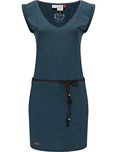 Ragwear Damen Kleid Dress Sommerkleid Strandkleid Jerseykleid Freizeitkleid Slavka Navy21 Gr. S