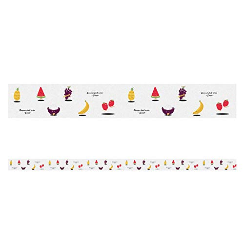 Papel pintado fronteras autoadhesivo habitación de los niños fruta para baños sala de estar cocina espesar impermeable vinilo cubierta fronteras decoración del hogar azulejos 10x500cm