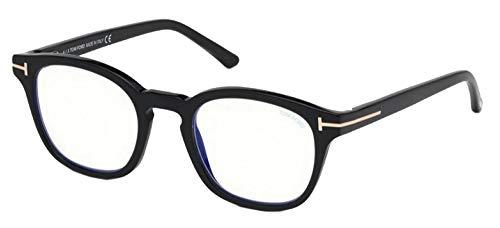 Tom Ford Gafas de Vista FT 5532-B BLUE BLOCK Black 49/21/140 Unisex