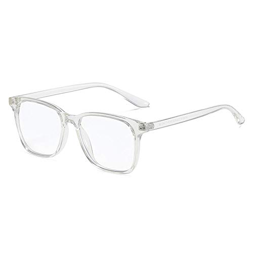 OcchialidaSole Occhiali da Vista A Luce Blu per Uomo Donna Montatura da Vista Quadrata Computer Anti Riflettente Protezione UV Occhiali da Vista-C5_Translucent