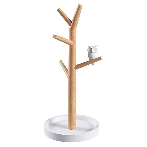 cajas para joyas Joyería soporte de exhibición, de estilo europeo simple joyería de madera del estante de exhibición, estante de la joyería for el hogar creativo de múltiples funciones con el chasis,