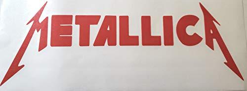 MAF - Metallica Heavy Metal Logo Vinyl Decal Red 11' - Car Window Sticker