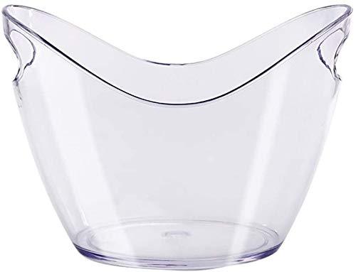 ASZS Weinkühler, Plexiglas Weinflaschenkühler Große Eiskübel mit Eiszange und Griffe Champagner-Bier-Wein-Kühler 9.16 (Color : 3ltransparent)