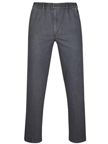 T-MODE Herren Jeans Stretch Schlupfhose Schlupfjeans ohne Cargo-Taschen-Grau-2XL