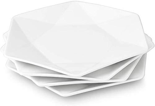"""11 """"weiße Teller, große Servierplatten Dessert-Salatteller für Fleisch, Vorspeisen, Dessert, Sushi, Party, 4er-Set"""