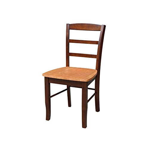 International Concepts Madrid Ladderback Chairs (Set of 2) - N/A Dining Chairs, Side Chairs Cinnamon/Espresso Espresso Finish, Wood Finish