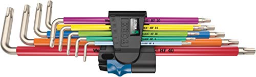 3967/9 TX SXL Multicolour HF Stainless 1 L-Key Set with Holding Function, Stainless, 9 Pieces