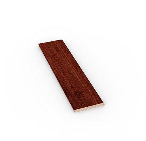 TWE - Tucci Wood Essence Battiscopa Moderno Tutto Legno in Tanganika Tinto Noce Chiaro mm 10x100
