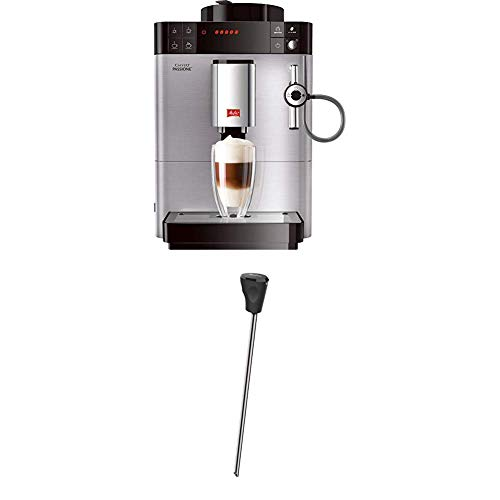 Melitta Caffeo Passione F540-100, Kaffeevollautomat mit Auto-Cappuccinatore-System, Edelstahl + Milchlanze für Kaffeevollautomaten, Edelstahl, Schwarz