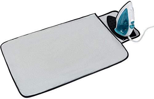 折りたたみ アイロンマット アイロン掛けシート 銀メッキコーティング加工 全綿 アイロン台カバー どこでもアイロン台 優れた耐熱性 収納便利 両面使える