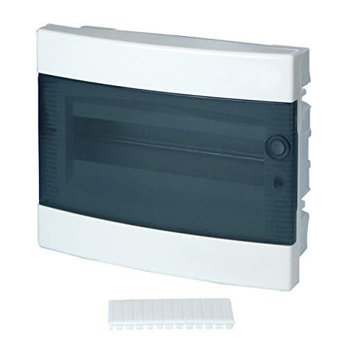 REV Ritter 0515504555 Kleinverteiler Unterputz mit Tür 1-reihig, transparent/weiß