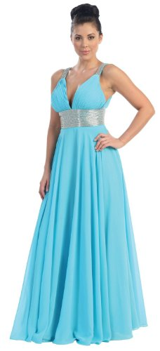 Big Sale Prom Dress New Elegant Long Gown #759 (16, Turquoise/Silver)