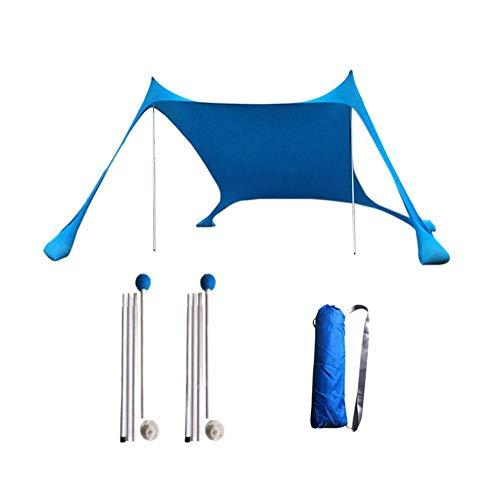 Blessvt Sonnenschutz für Familie, Strand, leicht, groß, tragbar, Sonnenschutz für Camping
