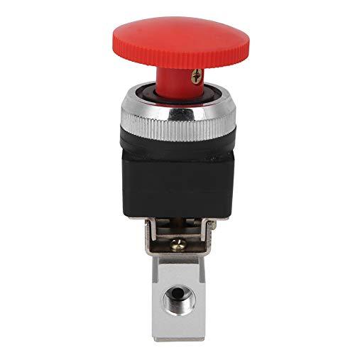 Weikeya Válvula mecánica Apretada, válvula de botón de Empuje de Aire a Prueba de presión de 0-60 ℃ con aleación de Aluminio