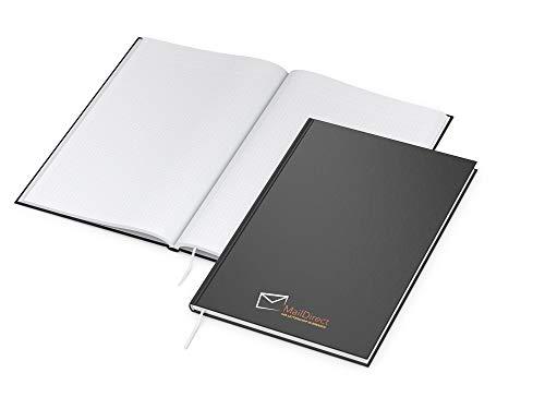 weewado 25x Notizbuch x.Press - mit eigenem Bild, Foto, Logo, Text oder Name gestalten - Personalisierte Geschenke + Werbemittel drucken A4 21x29.7 cm