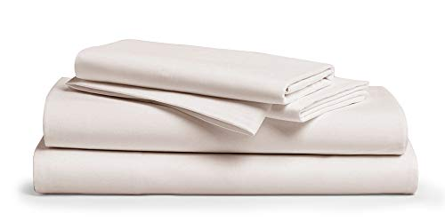 """800 Thread Count 100% Pure Egyptian Cotton – Sateen Weave Premium Bed Sheets, 4- Piece Ivory King- Size Luxury Sheet Set, Fits mattresses Upto 18"""" deep Pocket"""