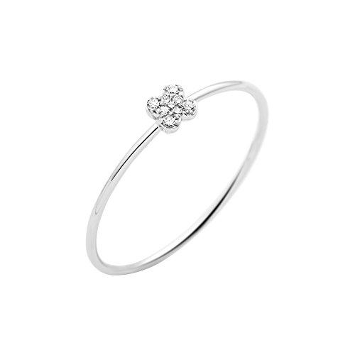 Miore - Anillo de oro blanco con diamante