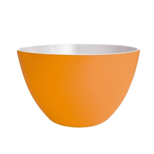 ZAK Designs Ciotola Duo, Melammina, Arancione/Bianco, 22 cm