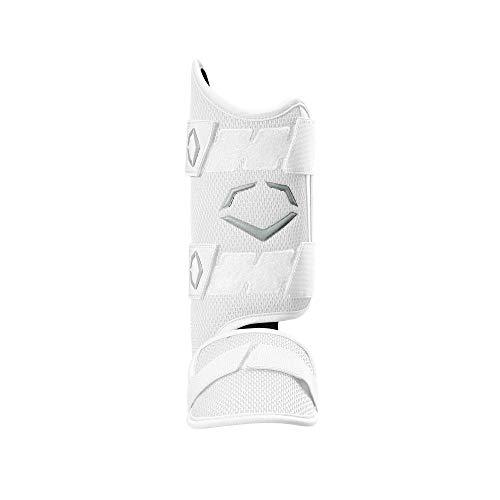 EvoShield PRO-SRZ Batter's Leg Guard, White - Right-Handed Hitter