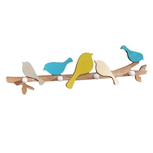 Nicetruc Wandhaken Kreative Vogel AST Form Wandgarderobe Organisator-Halter für Innenministerium-Geschäfts-1PC
