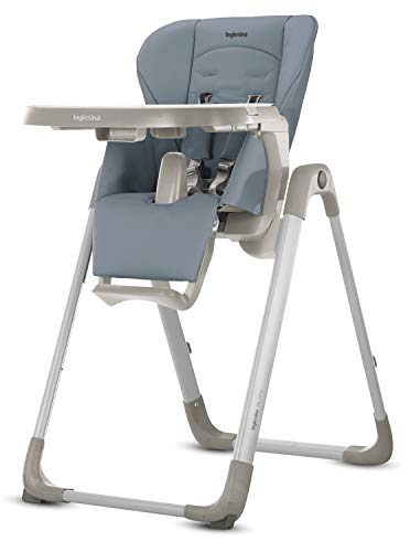 Inglesina MyTime Baby High Chair - Removable Tray, Easy-Clean Foldable High Chair - Sugar Color