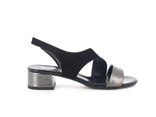 Melluso Sandalo Donna k35130 in Pelle Grigio con Sottopiede in Memory Foam 35