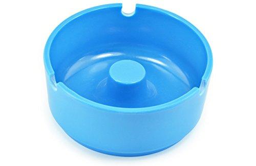 Aschenbecher Kunststoff Blau 10,2 cm Durchm. - 10 Stück