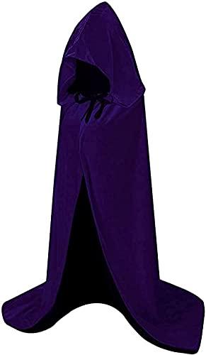 HBselect Mantello con Cappuccio Lungo in Velluto Costume di Halloween Traspirente Costume di Halloween Morbido Costume Unisex di Halloween per Carnevale
