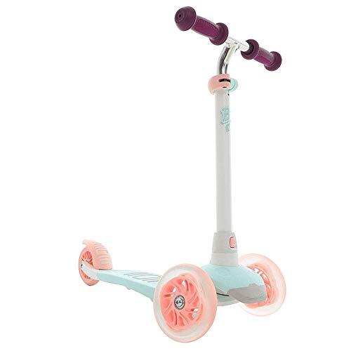 SZNWJ Ygqtbc Scooter- Plegable de Altura Ajustable Fácil Volviendo 3 Ruedas Scooter Niños for Niños Chicas Intermitente Ruedas (Color : C)