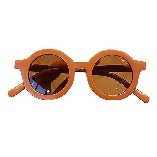 Gafas de sol para niños y bebés, protección UV, redondas, UV400, almohadillas de nariz integradas, para viajes, modelos, fiestas, cumpleaños, para decoración, protección ocular, sombrilla, moda