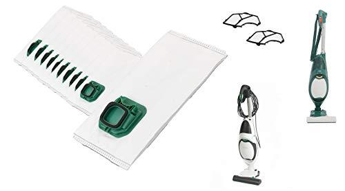 JaTop [12 Staubsaugerbeutel + 2 Motorschutzfilter - passend für Vorwerk Kobold 140 150 VK140 VK150 - Premium Motorschutzfilter schützt den Staubsaugermotor - Beste Qualität - Kein Original
