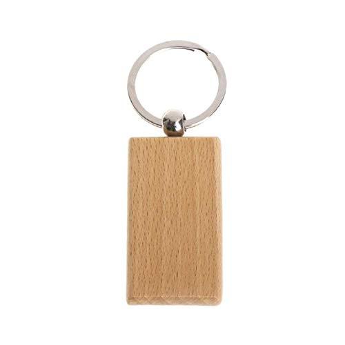 Blanko-Schlüsselanhänger aus Holz, rechteckig, für Heimwerker, 10 Stück