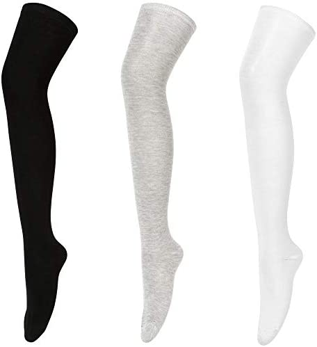 Womens Thigh High Socks Over the Knee High Warm Stocking Boot Leg Warmer Long Socks for Daily product image