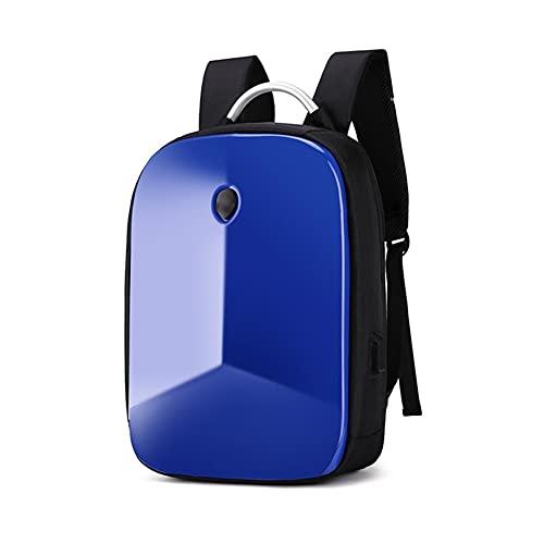 DDGQQ Zaino per Laptop Conchiglia Duro, Business Casual, Zaino da Viaggio per Business Impermeabile antifurto, Borsa per Laptop da Gioco con USB Porto per Uomo (Color : Blue)