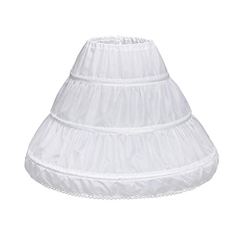 kdjsic Niños Princesa Falda Enagua Niñas Vestido de Novia con Faldas de aro Accesorios Cordón Forro de Cintura Ajustable