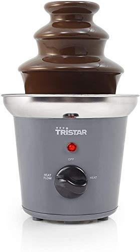Tristar CF-1603 Fuente de chocolate con 2 ajustes de potencia, 3 niveles, 22.5 cm de altura, función para mantener el chocolate caliente, 32 W, carcasa de acero inoxidable